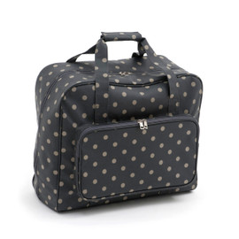 Charcoal Polka Dot  Sewing Machine Bag By Hobby Gift