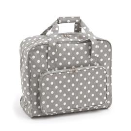 Grey Linen Polka Dot  Sewing Machine Bag By Hobby Gift