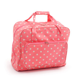 Flamingo Polka Dot  Sewing Machine Bag By Hobby Gift