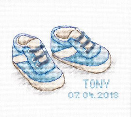 Baby Shoes Boy Cross Stitch Kit By Luca S