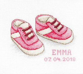 Baby Shoes Girl Cross Stitch Kit By Luca S