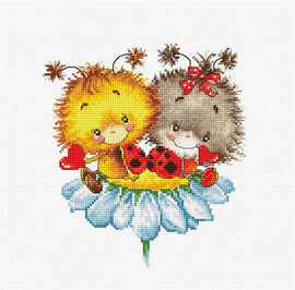 LadyBugs Cross Stitch Kit By Luca S