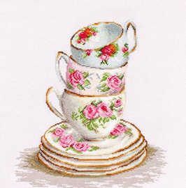 Three Stacked Cups Cross Stitch Kit By Luca S