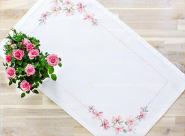 Blossom Table Topper Cross Stitch Kit By Luca S