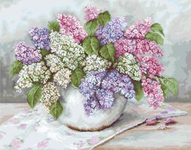 Lilacs Petit Point Cross Stitch Kit By Luca S