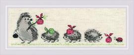 Hedgehogs Cross Stitch Kit By Riolis