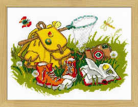Camping Cross Stitch Kit By Riolis