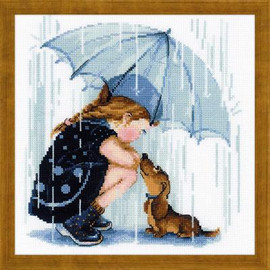 Under my Umbrella Cross Stitch Kit By Riolis
