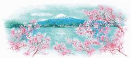 Sakura - Fuji Cross Stitch Kit By Riolis