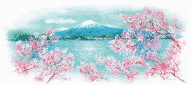 Sakura - Fuji Cross Stitch Kit By Riolis