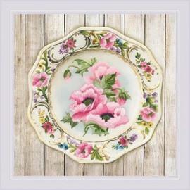 Anemone Plate Satin Stitch Cross Stitch Kit By Riolis