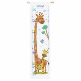 Giraffe  Height Chart Cross Stitch Kit By Vervaco