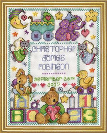 ABC Baby Sampler Cross Stitch Kit By Design Works