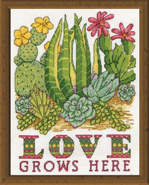 Cactus Love Cross Stitch Kit By Design Works