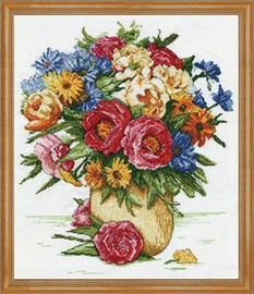 Majestic Floral Cross Stitch Kit By Design Works