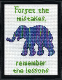 Forget the Mistakes Cross Stitch Kit By Design Works