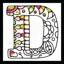 Zenbroidery - Letter D EMBROIDERY KIT By Design Works