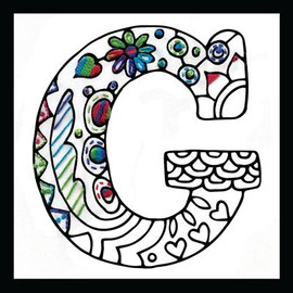 Zenbroidery - Letter G EMBROIDERY KIT By Design Works