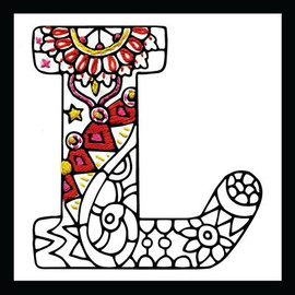 Zenbroidery - Letter L EMBROIDERY KIT By Design Works