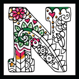 Zenbroidery - Letter N EMBROIDERY KIT By Design Works
