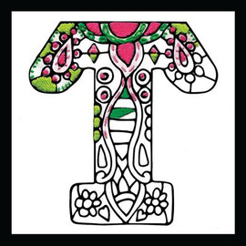 Zenbroidery - Letter T EMBROIDERY KIT By Design Works