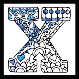 Zenbroidery - Letter X EMBROIDERY KIT By Design Works