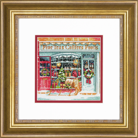 Counted Cross Stitch Kit: Gold Petites: Coffee Shoppe By Dimensions