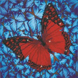 Flutterby Red Craft Kit by Diamand Dotz