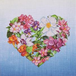 Flower Heart Craft Kit by Diamand Dotz