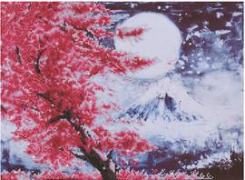 Cherry Blossom Mountain Craft Kit by Diamand Dotz