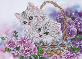 Kitty Basket Craft Kit by Diamand Dotz