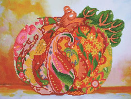 Pumpkin Rose Sparkle Craft Kit by Diamand Dotz