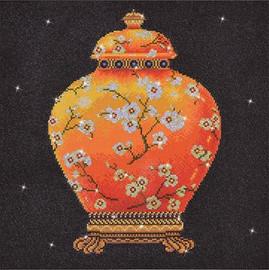 Red Vase Craft Kit by Diamand Dotz