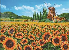 Sunflower Windmill Craft Kit by Diamand Dotz
