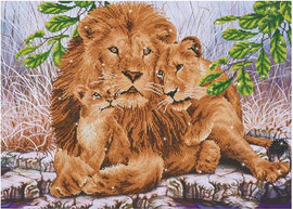 Lion Family Craft Kit by Diamand Dotz