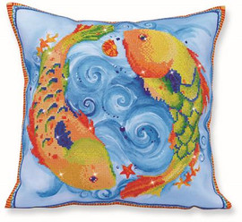 Dancing Fish Pillow Craft Kit by Diamand Dotz