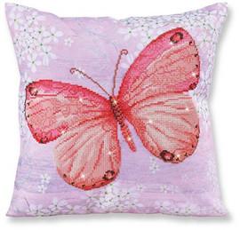 Papillon Abricot Pillow Craft Kit by Diamand Dotz