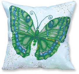 Papillon Vert Pillow Craft Kit by Diamand Dotz
