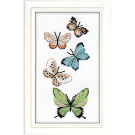 Butterflies Cross Stitch By oven