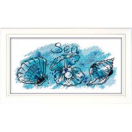 Sea Treasure Cross Stitch Kit by Oven