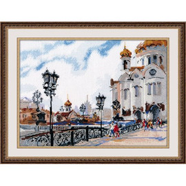 On the Bridge Cross Stitch Kit by Oven
