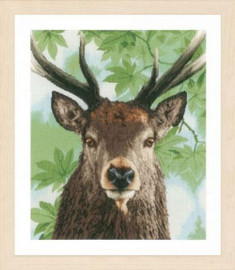 Proud Red Deer Cross Stitch Kit by Lanarte