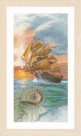 On a discovery Travel Cross Stitch Kit by Lanarte
