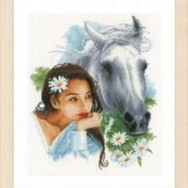 My Best Friend Horse Cross Stitch Kit By Lanarte