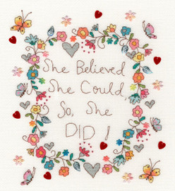Love Note Cross Stitch Kit By Bothy Threads