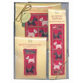 Scotties and Westies Cross Stitch Gift Set by Textile Heritage