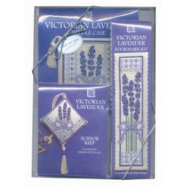 Victorian Lavendar Cross Stitch Gift Set By Textile Heritage