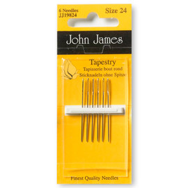 Tapestry needles Size 18-22 pack of 6 Needles