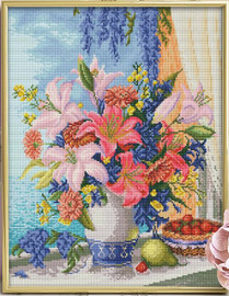 Diamond painting kit Lilac Bouquet