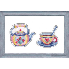 Enjoy Your Tea 2 Cross Stitch Kit by Oven